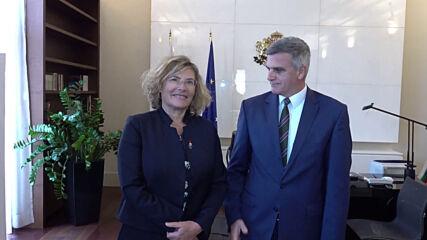 Премиерът Стефан Янев проведе среща с посланика на Френската република Флоранс Робин