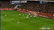 Arsenal 3:3 Fulham Бербатов с 2 гола и асистенциа