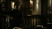 Elena takes her vervain necklace off to convince Damon he can trust her