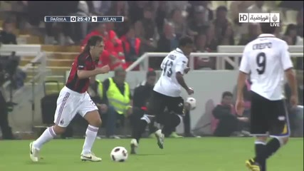 Pirlo Incredible Goal vs Parma 0 - 1 Ac Milan