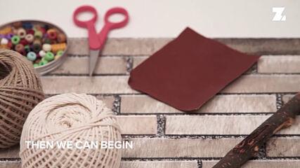 Boho Home Decor: From broken branch to macrame wall art