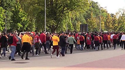 Belgium: Galatasaray fans set Bruges alight ahead of UCL clash