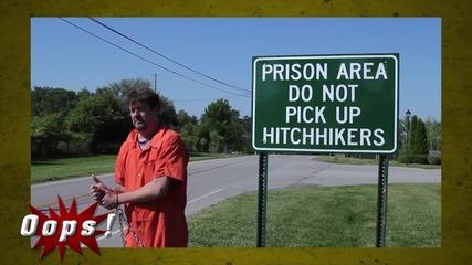 Лудата работа! Скрита камера със затворници! :D