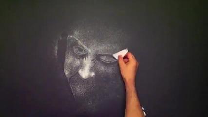Невероятно ... Момче рисува удивително със сол !!!