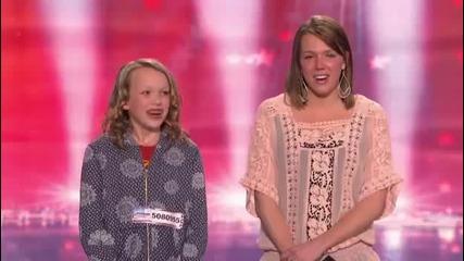 Два изумителни гласа ! Америка търси танлант - Две сестри пеят перфектно