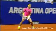 Rafael Nadal vs Federico Delbonis - Amazing Point - Buenos Aires 2015