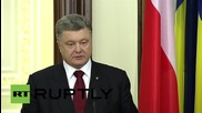 "Ukraine: ""We don't want to freeze the conflict, but de-escalate it""- Poroshenko"