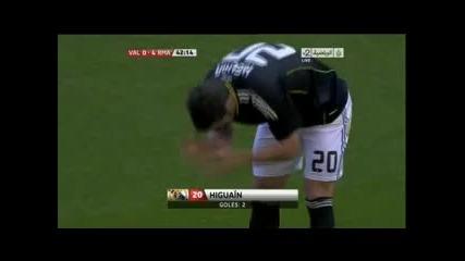 23.04.2011 Валенсия 0-4 Реал Мадрид втори гол на Гонсало Игуаин