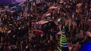 Iraq: Anti-govt. demonstrators gather at Tahrir Square as night falls in Baghdad