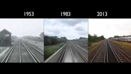 Пътуване с влак от Лондон до Брайтън 1953 - 2013