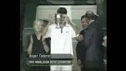 Federer winning wimb. boys title in 1998
