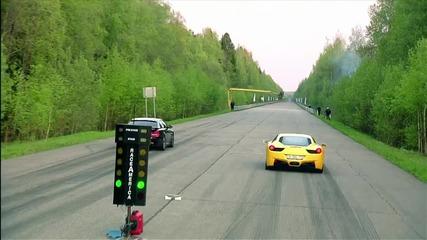 Bmw M6 vs Ferrari 458 vs Nissan Gt-r Ams