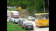 Ikarused vanal postiteel Ikarus buses in Estonia