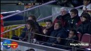 Смях ! Пике цели фен със семки на мача Барса - Сеута (10.11.2010)