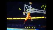 360 N between the legs twice dunk