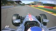 Формула 1 - страховитата катастрофа на Спа - Грожан, Хамилтън и Алонсо * бг аудио * 02.09.2012