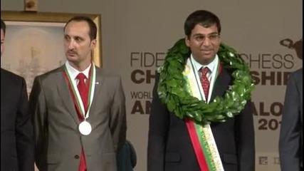 Световния Шампион по Шахмат Вишванатан Ананд - София 2010