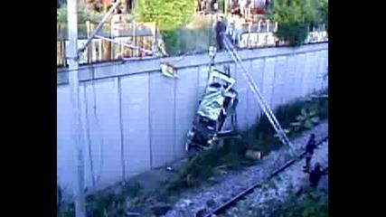 Изтегляне На Рено - То От Влаковите Релси