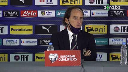 Манчини: България се защитаваше добре, важно бе да отбележим първия гол