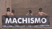 Spain: FEMEN activists stage protest against 'machoism pandemic' in Madrid *EXPLICIT*