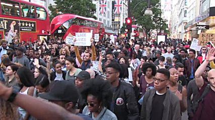 И Лондон на протест заради убийствата на чернокожи в САЩ