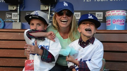 Britney Spears and Her Sons Recreates 'Oops I Did it Again' Album Cover