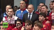 """Russia: """"It is necessary to fight against doping"""" says Putin during Sochi visit"""