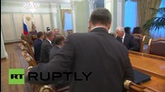 Russia: Putin meets Security Council to discuss recent Donetsk unrest
