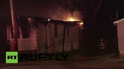 USA: Firefighters battle Baltimore fires after night of clashes