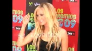 Ashley Tisdale - Black Dress Lovely at the Latin Mtv Vmas