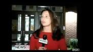 Репортерка се затапва сама! (смях)