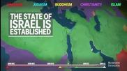 Как се разпространяват религиите по света карта