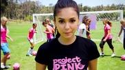 Nina Dobrev участва в Puma Pink Project