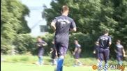 Топчо и Мечо тренират с Левски