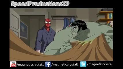 Ultimate Spiderman S1e19 Home Sick Hulk