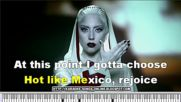 Lady Gaga - Alejandro -karaoke without Vocal