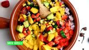 Summer Picnic salads: Black Bean Mango
