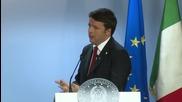 Belgium: Renzi talks Russian sanctions and German policies in Brussels