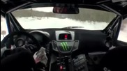 Ken Block goes flat out in his Rally Fiesta on ice during Snow Drift testing Hq