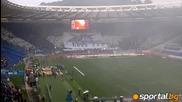 атмосфера на Олимпико - феновете на Лацио в действие