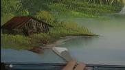S03 Радостта на живописта с Bob Ross E01 - планинско уединение ღобучение в рисуване, живописღ