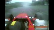 Невероятни реакции в състезателна кола с 150 Mph