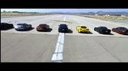 11 спортни возила в драг битка на четварт миля.