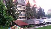 Мълния удари жилищна кооперация в Дряново и предизвика пожар