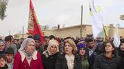 Syria: Syrian Kurds protest against Turkish aggression in Afrin