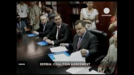 В Сърбия подписаха споразумението за коалиционно правителство