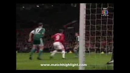 Manchester United 2 - 1 Wolfsburg Carrick Goal