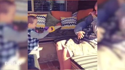Дете отрязва ръката на баща си - Шега