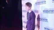 Justin Bieber в Париж на премиерата на филма си Never Say Never 17.02.2011