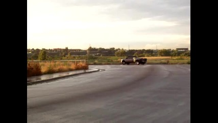 Dodge Ram drifting